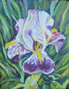 "Iris in the Green 8"" x 10"" Acrylic on Canvas"