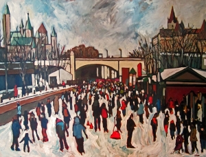 Heart of Winterlude (sold) 48 x 36 Acrylic on Canvas