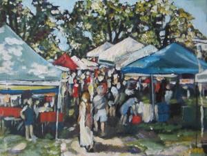 Westboro Farmer's Market 12 x 9 Acrylic on Canvas