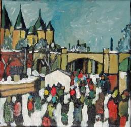 Downtown Core Mini 15.24cm x 15.24cm Acrylic on Canvas