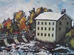 Watson's Mill Manotick (sold) 12 x 9 Acrylic on Canvas