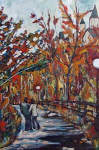 Autumn Stroll 24 x 36 Acrylic on Canvas