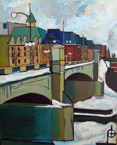 Wellington Street Bridge 24 x 30 Acrylic on Canvas