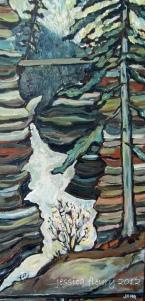 Athabasca 24 x 12 Acrylic on Canvas