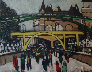 Downtown Core 22 x 28 Acrylic on Canvas