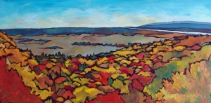 Good Morning Gatineau Park (sold) 72 x 36 Acrylic on Canvas
