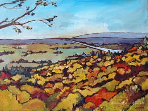 Crisp Morning at Gatineau Park (sold) 18 x 12 Acrylic on Canvas