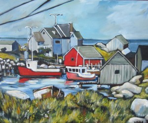 Peggy's Cove 20 x 16 Acrylic on Canvas