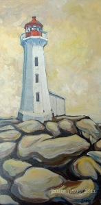 Peggy's Beacon 12 x 24 Acrylic on Canvas
