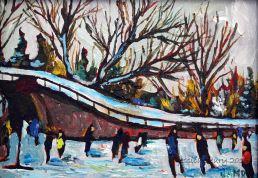Approaching Patterson Creek 5 x 7 Acrylic