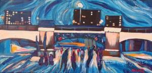 Crossing Pretoria 12 x 6 Acrylic on Canvas