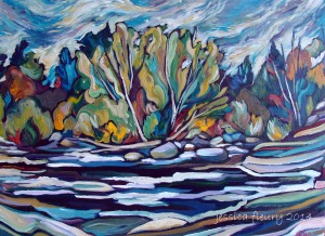 Hog's Back Hike 24 x 18 Acrylic on Canvas