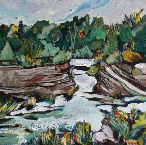 Hog's Back Retreat 12 x 12 Acrylic on Canvas