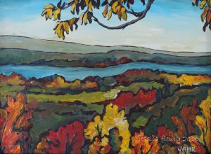 Leaves on the Outaouais 12 x 16 Acrylic on Canvas