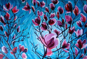 Spring Arrives 36 x 24 Acrylic on Canvas