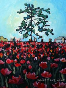 Tulips at Dow's Lake 18 x 24 Acrylic on Canvas