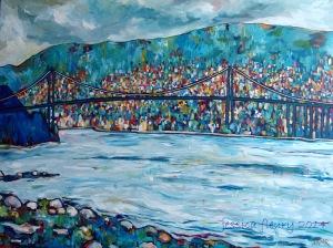 Vancouver 48 x 36 Acrylic on Canvas