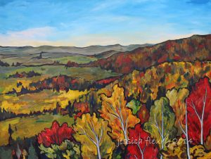 Champlain's Autumn 36 x 48 Acrylic on Canvas