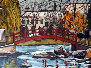 Autumn in Perth 30 x 40 Acrylic on Canvas