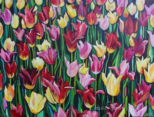 Bloomers, Ottawa Tulip Festival 30 x 40 Acrylic on Canvas