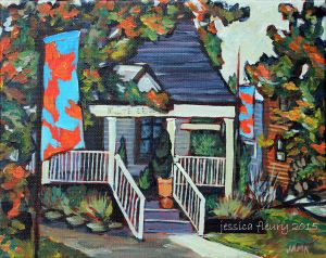 Mill Street Florist 8 x 10 Acrylic on Canvas