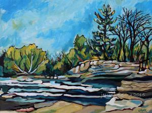 Spring at Hog's Back 18 x 24 Acrylic on Canvas