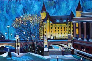 December Nights 24 x 36 Acrylic on Canvas