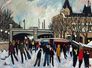 Skateway 2015 30 x 40 Acrylic on Canvas