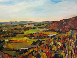 Overlooking Gatineau Park 30 x 40 Acrylic on Canvas