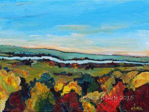 Rivière des Outaouais 9 x 12 Acrylic on Canvas