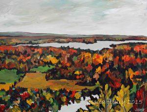 Gatineau Grey 30 x 40 Acrylic on Canvas