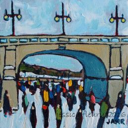 Bank Street Mini 2016 5 x 5 Acrylic on Canvas