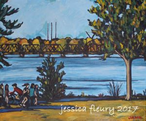 By the Ottawa River 20 x 24 Acrylic on Canvas