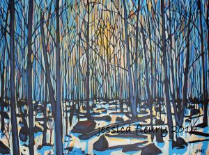 Lime Kiln in Winter 30 x 40 Acrylic on Canvas