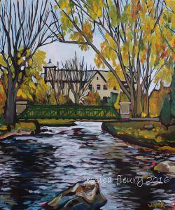 Stewart Park Perth 20 x 24 Acrylic on Canvas