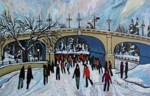Under the Bank Street Bridge 24 x 36 Acrylic on Canvas