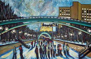 Underpasses 24 x 36 Acrylic on Canvas