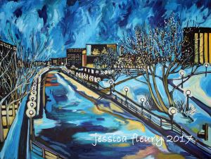 Winter Descends 30 x 40 Acrylic on Canvas