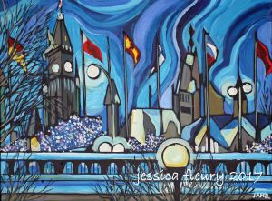 Winter Sky 20 x 24 Acrylic on Canvas