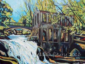 Carbide Willson in Spring 30 x 40 Acrylic on Canvas