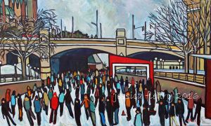 Family Day in Ottawa 36 x 60 Acrylic on Canvas