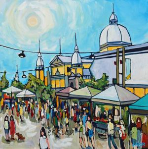 Lansdowne Market 8 x 10 Acrylic on Wood Panel