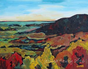 October in Gatineau Park 11 x 14 Acrylic on Canvas
