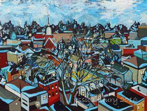 Vanier Snowfall 36 x 48 Acrylic on Canvas