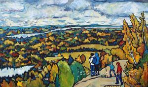 View From King Mountain 36 x 60 Acrylic on Canvas