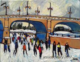 Under the Bank St Bridge Mini 8 x 10 Acrylic on Canvas